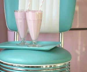 vintage, pink, and blue image