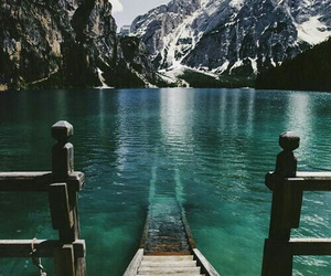 mountains, water, and nature image
