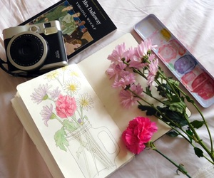 flowers, aesthetic, and art image
