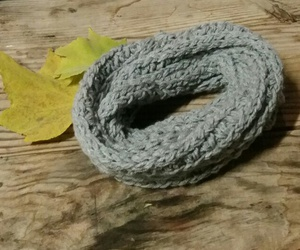 autumn, scarf, and crochet image