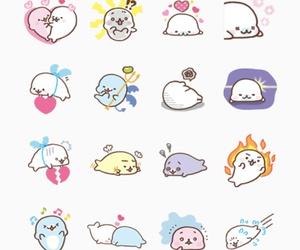 kawaii, line, and stickers image