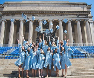 columbia, ivy league, and graduation image