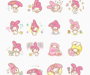 my melody, kawaii, and pink image