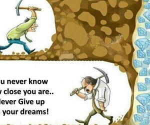 Dream, quote, and never give up image