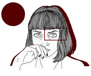 art, mia wallace, and pulp fiction image