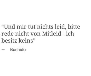 bushido, german, and zitat image