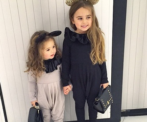 fashion, baby, and sisters image