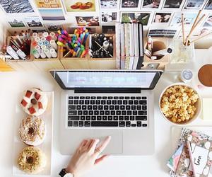 food, study, and desk image