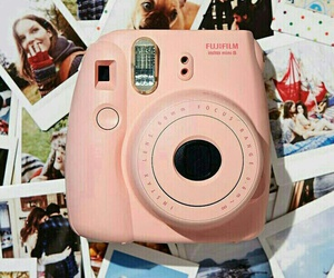 camera, picture, and pink image