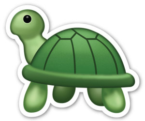 turtle and emoji image