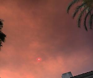 sky, sunset, and sun image