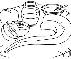 rosh hashanah and coloring pages image