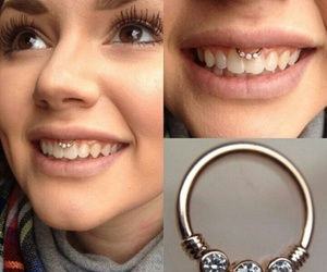 piercing and smiley image
