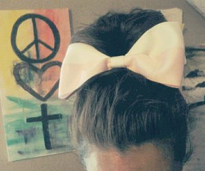 bows, vintage, and girl image