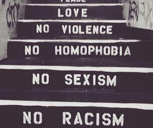 homophobia, peace, and sexism image