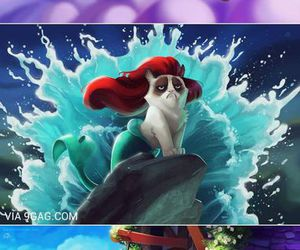 disney, funny, and grumpy cat image