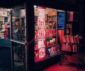 book and neon image