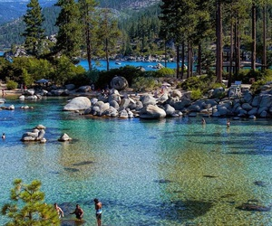 lake tahoe, travel, and Nevada image