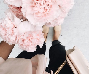 flowers, pink, and outfit image