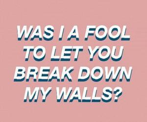 break, fool, and Lyrics image