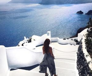 summer, girl, and Greece image