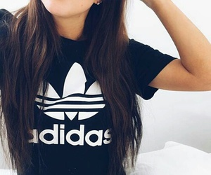 adidas and brunette image