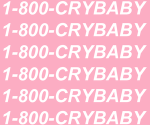 crybaby, phone number, and pink image
