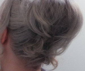 chignon, coiffure, and hairstyle image