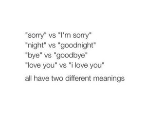 quote, sorry, and goodbye image