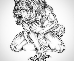 love, beast, and wolf image