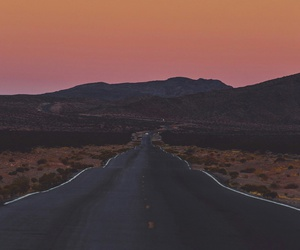 landscape, moon, and road image