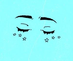 purple, eyes, and stars image