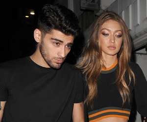 zayn malik, model, and gigi hadid image