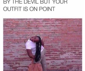 funny, Devil, and outfit image