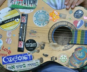 guitar, music, and hippie image
