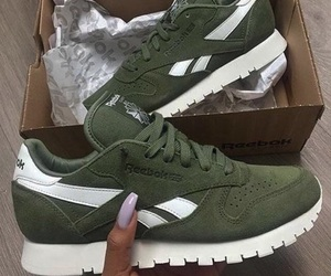 shoes, reebok, and green image