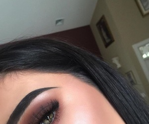 makeup, eyebrows, and make up image