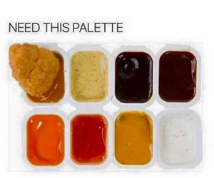 food, palette, and funny image