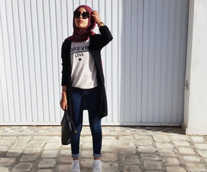 hijab, outfit, and hijab fashion image