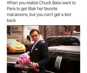 chuck bass, gossip girl, and blair image