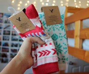 socks, tumblr, and christmas image