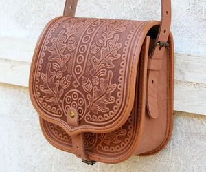bag, brown, and style image