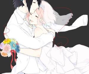 anime, couple, and sasusaku image