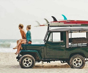 beach, surfing, and preppy image