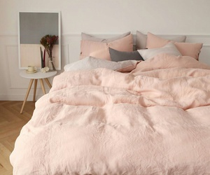 bed, cute, and pink image
