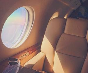 airplane, airplane window, and chair image
