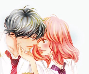 anime, anime girl, and cute couple image