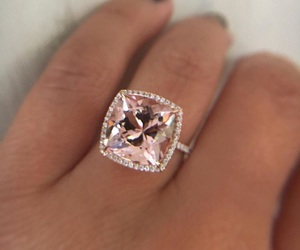 diamond, ring, and rose gold image