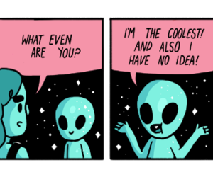 aliens, cool, and outer space image