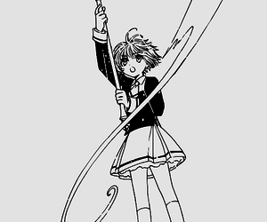 manga, power, and sakura card captor image